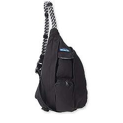 cheap KAVU Mini Rope Bag Cotton Sling-Black