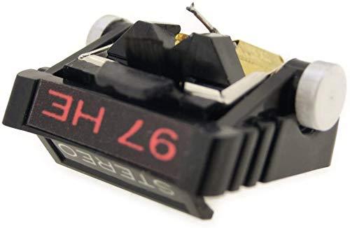 Nippon Seiki gem Industrial Co, Ltd. JICO aguja de registro SHURE N-97HE aguja de repuesto S elíptica 192-97HEa