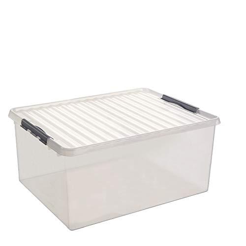 SUNWARE Q-Line Box - 120 Liter - 80 x 50 x 38cm - transparent/metallic