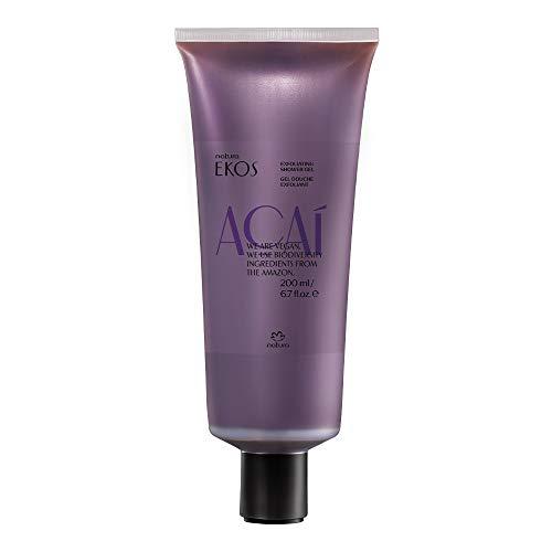 NATURA - Ekos Açai Peeling-Duschgel - Peelt sanft und macht die Haut geschmeidig - Sorgt für zarte, glatte und duftende Haut - 100% vegan - Cruelty Free - 200 ml