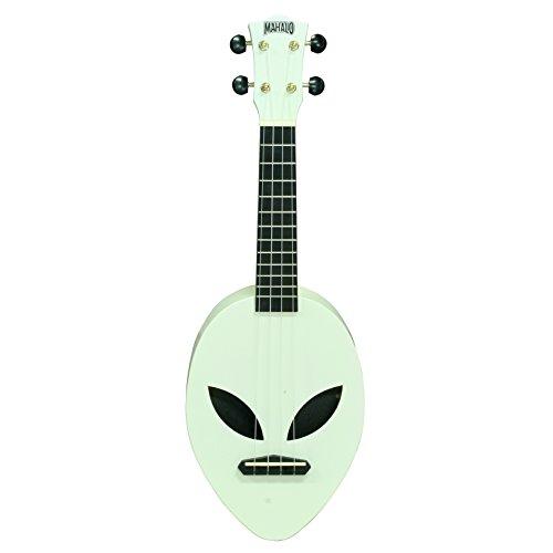 Mahalo Ukeleles Mahalo Creative Series Ukulele, diestros, que brilla en la oscuridad, verde soprano (MC1AL ggn)