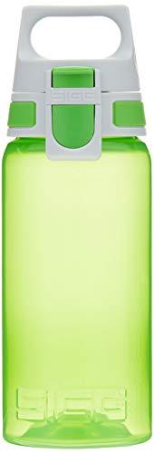 SIGG VIVA ONE Green Kinder Trinkflasche (0.5 L), schadstofffreie Kinderflasche mit auslaufsicherem Deckel, einhändig bedienbare Sporttrinkflasche