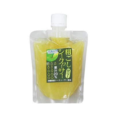 粗ごしシークヮーサーゼリー 175g×18P 沖縄物産企業連合 沖縄県産 酸味のある 青切り 収穫 シークヮーサー内果皮入り
