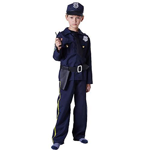 Huha Polizistenkostüm für Kinder, Halloween-Party. Gr. M , Schwarz