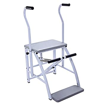 AeroPilates Precision Pilates Chair | 2 Online Expert-Guided Workouts Included | Stream from Any Device Gray