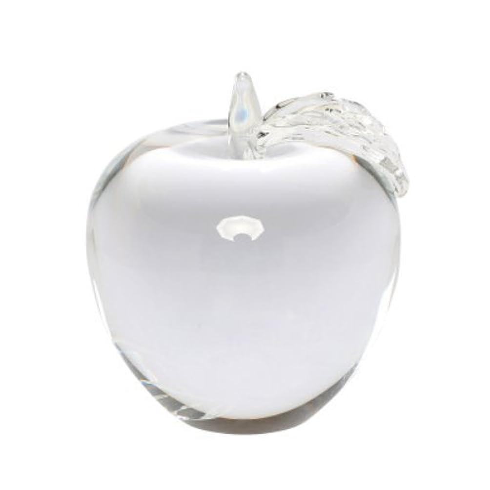 摂氏ボトルネック独創的【Woliwowa】 オブジェ 美しい 透明感 りんご モチーフ (クリア) [並行輸入品]