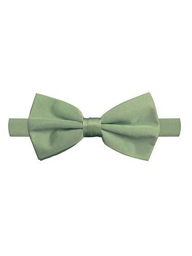 Jacob Alexander Men's Pretied Banded Adjustable Solid Color Bowtie - Olive