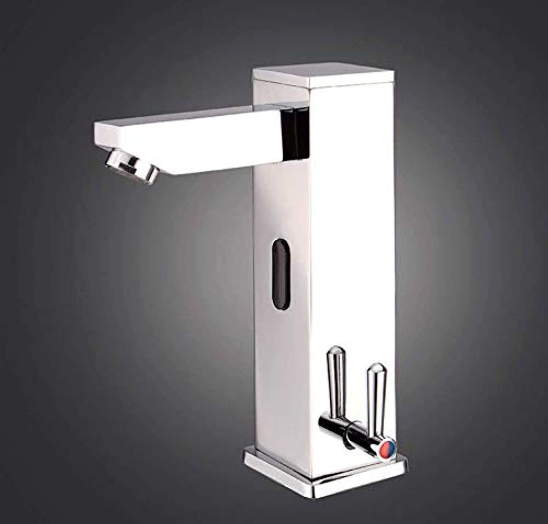 ROTOOY Wasserhhne All-Kupfer Integrierte heie und kalte Sensor Wasserhahn Infrarot-Becken Mischhahn Wasserhhne