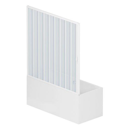 Rollplast BAST1LONCC28150 Duschkabinenwand, Größe: 150 x H 150 cm, aus PVC, seitliche Öffnung, Weiß