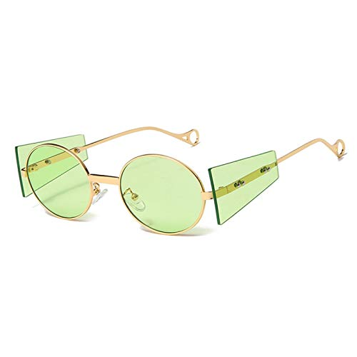 Gafas de Sol Sunglasses Nuevas Gafas De Sol Steampunk Vintage para Hombre, Gafas De Sol Punk Redondas De Diseñador para Mujer, Gafas De Hip Hop De Metal Steam Punk para H