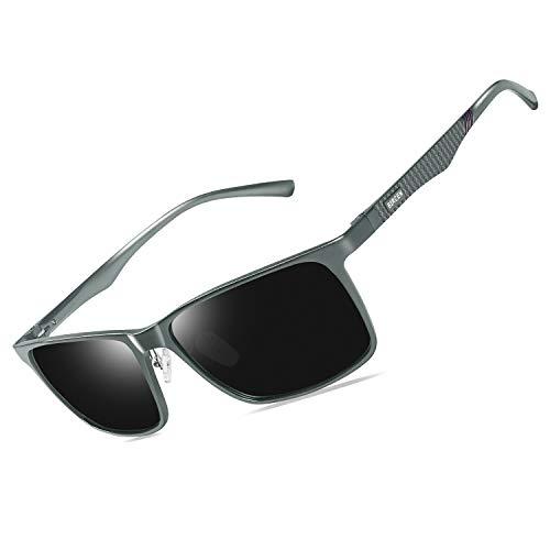 Bircen男士偏光太阳镜驾驶男子对于女性Al-Mg系金属架轻型钓鱼运动户外