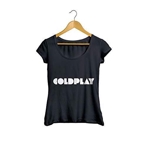 Camisetas Coldplay Banda Feminino Tamanho:M;Cor:Preto