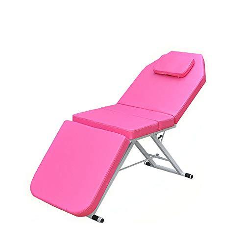 Camilla de masaje plegable profesional, cama de belleza, cama plegable, cama de spa, cama portátil, color rosa