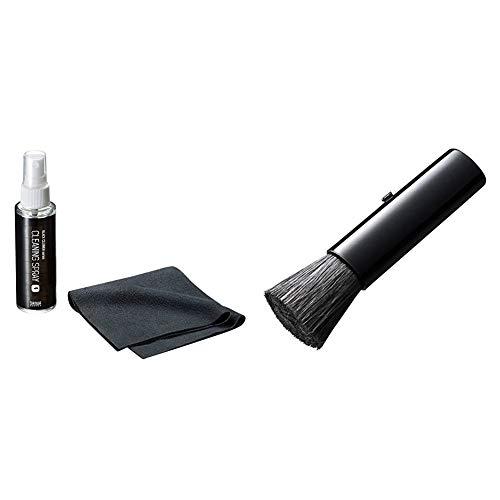 【セット買い】サンワサプライ 液晶画面クリーナー (ブラック) CD-KSP1 & スティックブラシ(ブラック) CD-KBR2