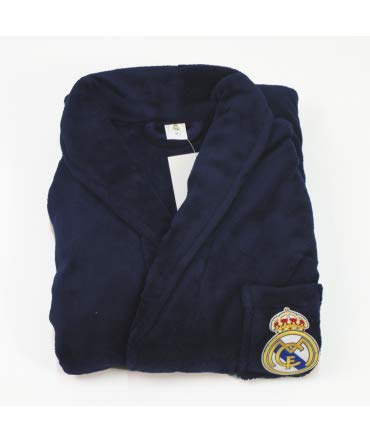 10XDIEZ Bata Real Madrid 306m Azul Marino - Medidas Albornoces/Batas Adulto - L (Grande)
