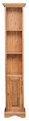 Biscottini Piccola libreria in Legno massello di Tiglio Finitura Naturale 40x30x196 cm