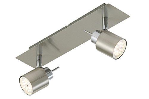 Briloner LED Strahlerbalken pin Silbergrau Silbergrau | Inklusive Leuchtmittel: GU10 2,30W | 2006-022