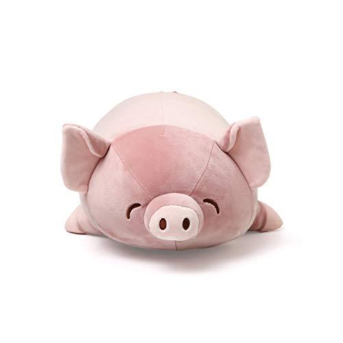 Niuniu Daddy Stuffed Animal Pig Plush Toy Pillow for Kids 18.5In Kawaii Soft Cuddly Stuffed Animal Pillow Gift for Girls Boys