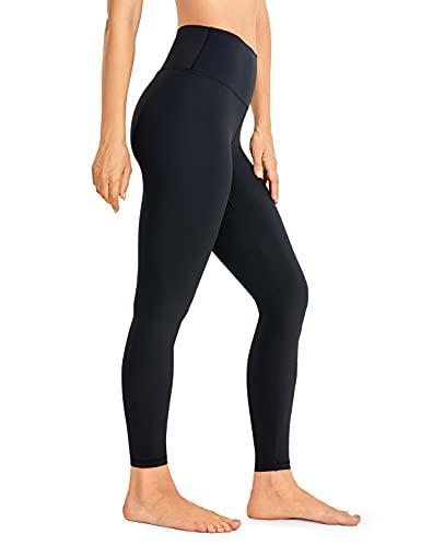 CRZ YOGA Mujeres Sentimiento Desnudo Yoga Polainas 63cm - Cintura Alta 7/8 Largo Ejercicio Pantalones Negro 46