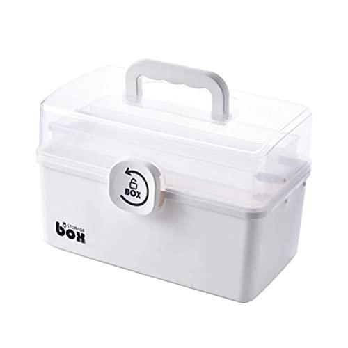 VusiElag Caja de medicina casera, caja de almacenamiento de medicamentos, caja de medicina portátil, cajas de medicina de nivel de plástico Caja de almacenamiento plegable de la medicina