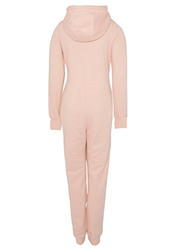 Eight2Nine Damen Sweat Overall | Kuscheliger Jumpsuit | Einteiler aus bequemen Sweat-Material einfarbig Rose L/XL - 3
