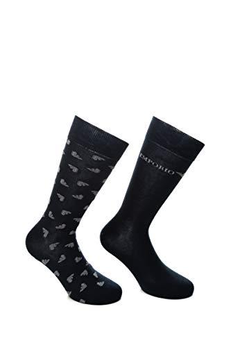 Emporio Armani Underwear Herren Short Socken, BLU NAVY, UNI