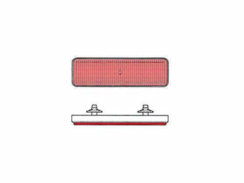 Catadioptre Rectangulaire Bihr Rouge