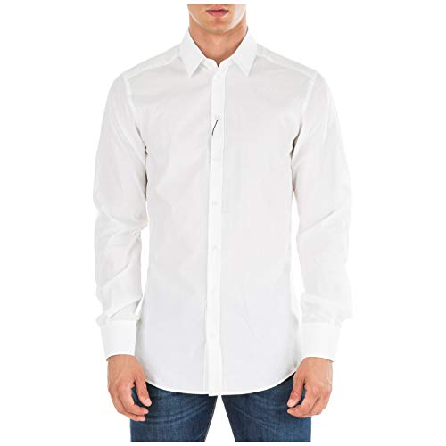 Dolce&Gabbana Hombre Camisa Bianco 42 cm