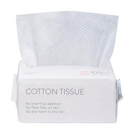 100 Pezzi Asciugamani Monouso in Tessuto, Salviette Asciutte in Puro Cotone, Asciugamani in Cotone Multiuso per la Cura Della Pelle