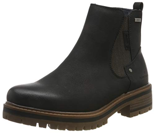 TOM TAILOR Damen 7990004 Stiefeletten, Schwarz (Black 00001), 39 EU