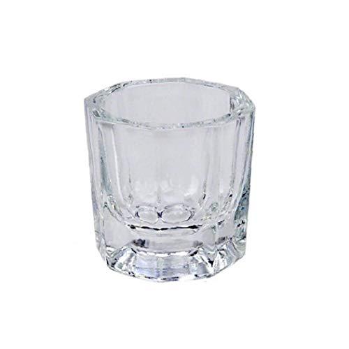 LjzlSxMF Uñas Transparente Mini Copa de Cristal Art Glass Polvo líquido de...