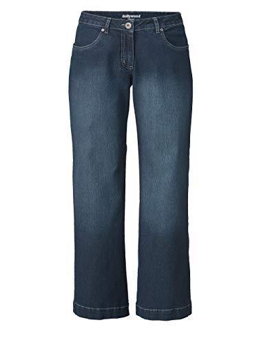 Dollywood Damen Flare Cut Jeans Nora Dunkelblau 48 Baumwolle