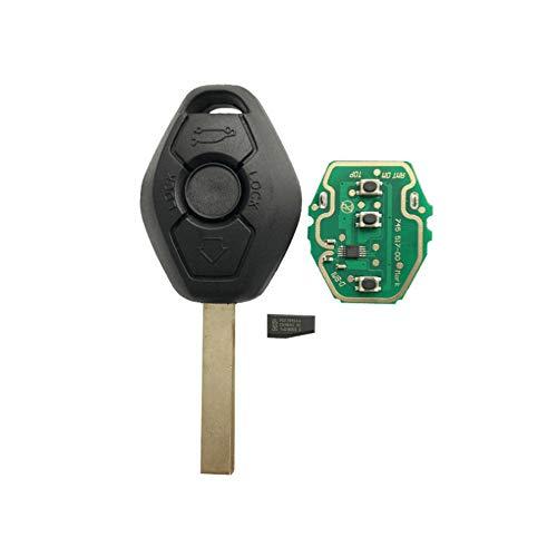 BAAQII Reemplazo de 3 Botones 433MHZ ID44 Chip EWS Tecla de Control Remoto para BMW 3 5 7 Series E38 E39 E46