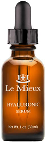 Le Mieux Hyaluronic Serum - Concentrated Hyaluronic Acid Facial Hydration Complex, Anti Aging Moisture with No Parabens or Sulfates (1 oz / 30 ml)