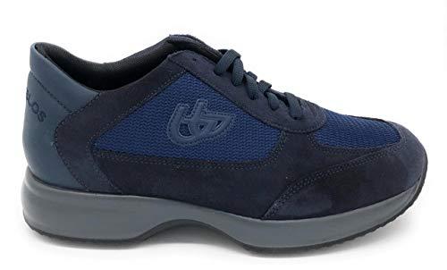 Blu Byblos Sneacker da Uomo Camoscio e Tessuto M907-135 Navy. Scarpa dal Design Raffinato. Collezione Autunno-Inverno 2020 EU 43