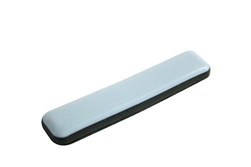 GLEITGUT 16 x Teflongleiter selbstklebend rechteckig 16 x 75 mm PTFE Möbelgleiter für Freischwinger Flachstahl