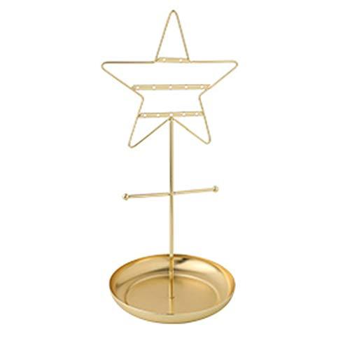 ZSP Estante de la joyería Pendientes de Rack Collar Percha Bandeja de Estante casero Creativo cosméticos Joyas de Oro Soporte de joyería (Color : A)
