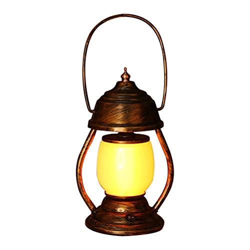 DKaony Lanterna da Esterno,Ricarica USB Vintage LED Lanterne di Tempesta Fiamma Tremolante,Luci...