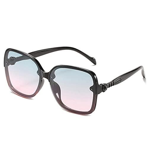 FJCY Gafas de Sol cuadradas de Gran tamaño para niños, Gafas de Sol para niños conDegradadoColorido a la Moda, niños y niñas, Unisex RetroUv400-6-Dj6635-C5