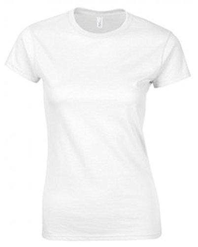 Gildan, SoftStyle, t-shirt da donna aderente, in cotone pettinato White Medium