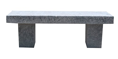 ARTISTICA GRANILLO Banco de hormigón con Inertes de piedra volcánica 130 x 42 x 43 cm