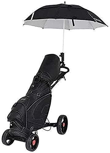 KAKTT Carrito de Golf Carrito de Golf de Empuje y tracción de 4 Ruedas Carrito de Golf Ligero Plegable con Freno de Mano Soporte para Paraguas Soporte para Bebidas Rueda Suave Panel multifunción