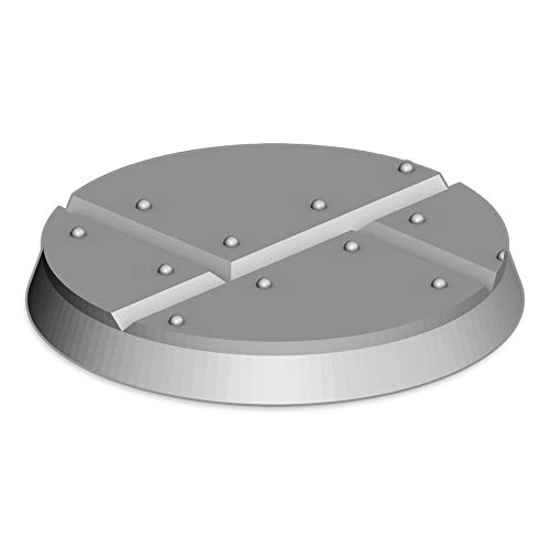 Metal Plate Bases (x15), Bits and Accessories for 28-32mm Tabletop Wargame Miniatures, 3D Printed and Paintable