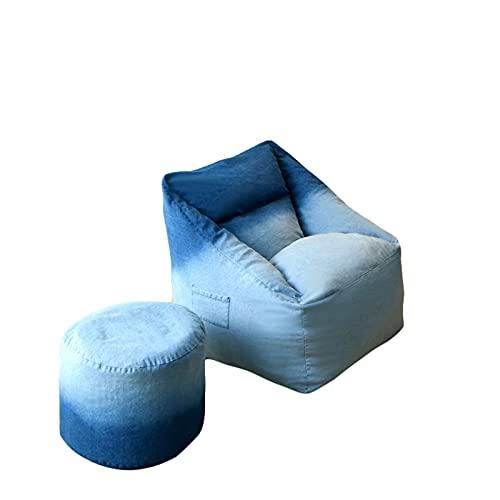 Funda para Sillón Puff Cubierta Adult con Relleno Only Sin Relleno sillas para Adultos, niños y Adolescentes Tela Suave y cómoda de Piel de Conejo Artificial, Extra Grande Enorme para Juegos