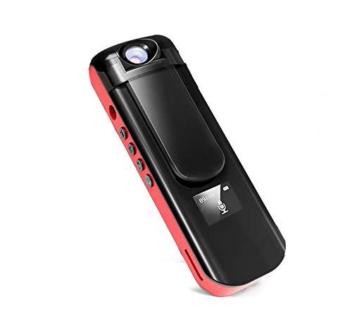Biback Mini cámara Oculta Cuerpo, 1080p HD espía cámara portátil Clip móvil usés bolígrafo cámara videograbador MP3bolígrafo Secret CAM con detección de Movimiento y 180° Objetivo de rotación
