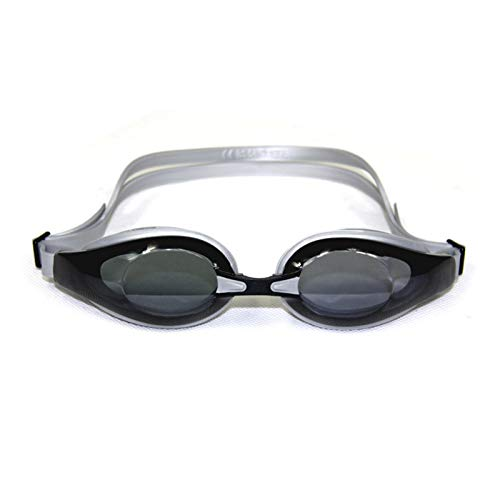 Gafas de natación para Adultos, Impermeables, antivaho y Anti-Ultravioleta, con Puente Nasal reemplazable Dark Grey