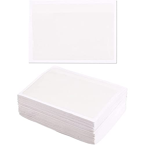 Juvale Label Holders for Index Cards, Self-Adhesive Clear Sleeves (5x3 in, 100 Pack)