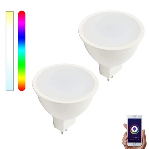 Bombilla Inteligente WiFi GU5.3/MR16 LED 12V RGBW compatible con Alexa, Google Home y Smart Life, Multicolor Regulable 5W – Smartfy (2)