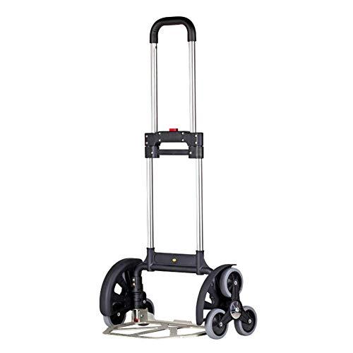 GUOOK Treppensteigender Warenkorb-faltender Lebensmittelgeschäft-Hand-LKW tragbar, Gebrauchslaufkatze mit Rad-Warenkorb