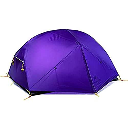 ZIXUAL TiendaMochila Camping Tienda de Camping 2 Persona Ligero 3 Temporada Impermeable Impermeable Tienda Tienda Doble CrossBarras Easy Setup Capa Doble para la Caza Viaje Purple
